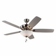 Monte Carlo Fans 5COM52BSD Colony Max Plus Brushed Steel Indoor/Outdoor 52  Home Ceiling Fan