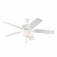 Monte Carlo Fans 5COM52RZWD Colony Max Plus Rubberized White Indoor/Outdoor 52  Home Ceiling Fan