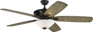Monte Carlo Fans 5CSM60AGPD Colony Super Max Plus Aged Pewter 60  Home Ceiling Fan