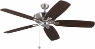 Monte Carlo Fans 5CSM60BS Colony Super Max Brushed Steel 60  Ceiling Fan