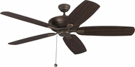Monte Carlo Fans 5CSM60RB Colony Super Max Roman Bronze 60  Home Ceiling Fan