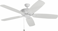 Monte Carlo Fans 5CSM60RZW Colony Super Max Matte White 60  Ceiling Fan