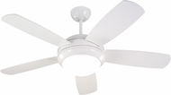 Monte Carlo Fans 5DI44WHD Discus II Modern White / Matte Opal 44  Indoor Ceiling Fan