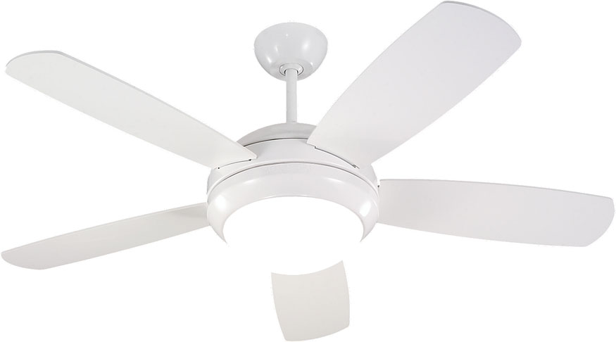 modern white ceiling fan with light. monte carlo fans 5di44whd discus ii modern white / matte opal 44\u0026nbsp; indoor ceiling fan. loading zoom fan with light