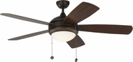 Monte Carlo Fans 5DIO52RBD Discus Ornate Roman Bronze LED 52  Ceiling Fan