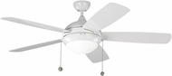 Monte Carlo Fans 5DIW52WHD Discus White LED Outdoor 52  Home Ceiling Fan