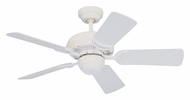 Monte Carlo Fans for Less 5DS34WH Designer Supreme III White 34 Inch Wide Ceiling Fan