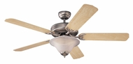 Monte Carlo Fans 5HS52BPD-L Homeowner's Deluxe Brushed Pewter 52 Inch Wide Ceiling Fan
