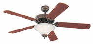 Monte Carlo Fans 5HS52TBD-L Homeowner's Deluxe Tuscan Bronze 52 Inch Wide Home Ceiling Fan
