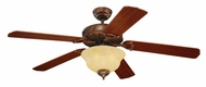 Monte Carlo Fans 5OR52TBD-L Ornate Elite Tuscan Bronze 52 Inch Wide Traditional Ceiling Fan