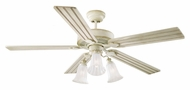 Monte Carlo Fans 5OS52DWD Old School Distressed White 52 Inch Wide Traditional Ceiling Fan