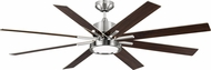 Monte Carlo Fans 8EEDR60BSD Empire DR Contemporary Brushed Steel LED 60  Home Ceiling Fan
