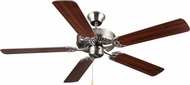Monte Carlo Fans BF1-BS HomeBuilder I Brushed Steel 52  Indoor Ceiling Fan