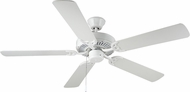 Monte Carlo Fans BF1-WH HomeBuilder I White 52  Home Ceiling Fan