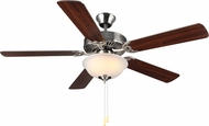 Monte Carlo Fans BF2-BS HomeBuilder II Brushed Steel 52  Indoor Ceiling Fan