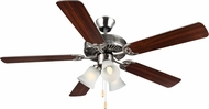 Monte Carlo Fans BF3-BS HomeBuilder III Brushed Steel 52  Indoor Fan