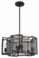 Feiss F2906-5HTBZ Gemini Contemporary Heritage Bronze Finish 9.875  Tall Chandelier Lighting