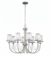 Feiss F2920-8BS Aveline Modern Brushed Steel Finish 29  Tall Hanging Chandelier