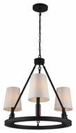 Feiss F2921-3ORB Lismore Oil Rubbed Bronze Finish 23  Wide Mini Chandelier Light