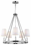 Feiss F2922-5PN Lismore Polished Nickel Finish 30.125  Tall Chandelier Lamp