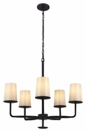 Feiss F2924-5ORB Huntley Oil Rubbed Bronze Finish 25.25  Tall Ceiling Chandelier