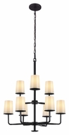Feiss F2925-3-6ORB Huntley Oil Rubbed Bronze Finish 28.875  Wide Hanging Chandelier