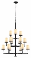 Feiss F2926-3-6-6ORB Huntley Oil Rubbed Bronze Finish 44.875  Tall Chandelier Light