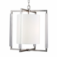 Feiss F2927-3BS Fording Contemporary Brushed Steel Finish 21  Wide Pendant Light