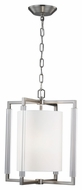 Feiss F2928-2BS Fording Modern Brushed Steel Finish 19.75  Tall Lighting Pendant