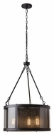 Feiss F2929-3ORB Bluffton Oil Rubbed Bronze Finish 20  Wide Mini Chandelier Lighting