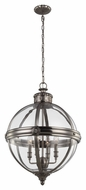 Feiss F2931-4ANL Adams Contemporary Antique Nickel Finish 19.625  Wide Mini Lighting Chandelier