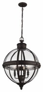 Feiss F2931-4ORB Adams Modern Oil Rubbed Bronze Finish 26.75  Tall Mini Chandelier Lamp