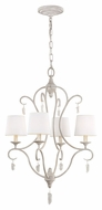 Feiss F2932-4CHKW Caprice Chalk Washed Finish 21.5  Wide Mini Chandelier Light