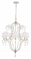 Feiss F2933-7CHKW Caprice Chalk Washed Finish 38.5  Tall Ceiling Chandelier