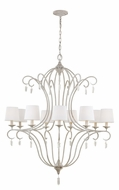 Feiss F2934-9CHKW Caprice Chalk Washed Finish 37  Wide Hanging Chandelier