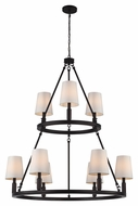 Feiss F2937-3-6ORB Lismore Oil Rubbed Bronze Finish 42.625  Tall Lighting Chandelier