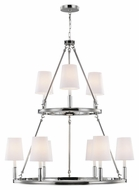 Feiss F2937-3-6PN Lismore Polished Nickel Finish 37.375  Wide Chandelier Lamp