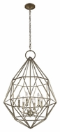 Feiss F2942-6BUS Marquise Contemporary Burnished Silver Finish 38.75 Tall Chandelier Light