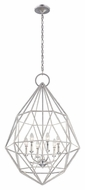 Feiss F2942-6SLV Marquise Modern Silver Finish 24.5 Wide Ceiling Chandelier