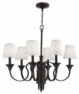 Feiss F2944-6AZ-WBR Arbor Creek Arbor Bronze / Weathered Brass Finish 31.125  Wide Chandelier Light