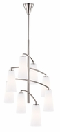 Feiss F2950-8BS Coddington Contemporary Brushed Steel Finish 19  Wide Mini 8 Light Ceiling Chandelier