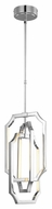 Feiss F2954-6PN Audrie Modern Polished Nickel Finish 25.875  Tall LED Mini Chandelier Light