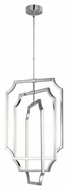 Feiss F2955-6PN Audrie Modern Polished Nickel Finish 35.75  Tall LED Mini Lighting Chandelier