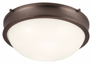 Feiss FM379CLT Turner Chocolate Finish 12.875  Wide Ceiling Light