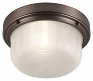 Feiss FM380CLT Elliot Chocolate Finish 11.25  Wide Flush Lighting