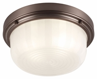 Feiss FM381CLT Elliot Chocolate Finish 13.25  Wide Overhead Lighting