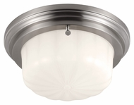 Feiss FM382BS Portia Brushed Steel Finish 4.875  Tall Flush Mount Light Fixture