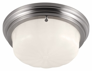 Feiss FM383BS Portia Brushed Steel Finish 13.25  Wide Flush Mount Ceiling Light Fixture