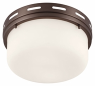 Feiss FM385CLT Manning Chocolate Finish 11.25  Wide Ceiling Light Fixture