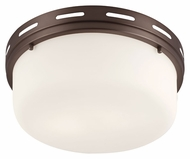 Feiss FM386CLT Manning Chocolate Finish 13.25  Wide Flush Mount Light Fixture